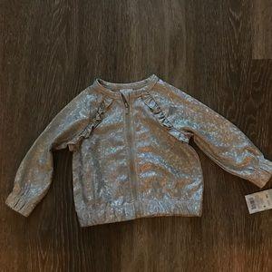 NWT Cat & Jack Glitter Jacket